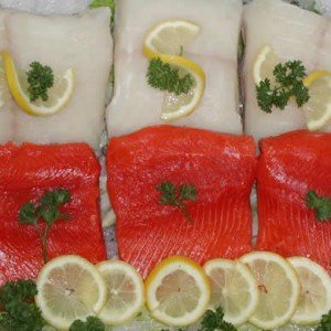 Wild Halibut and Salmon Fillets