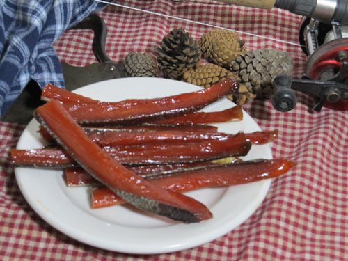 Alaska native smoked fish strips