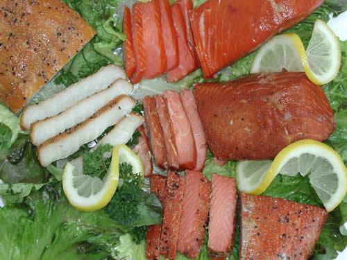 Smoked Salmon and Halibut